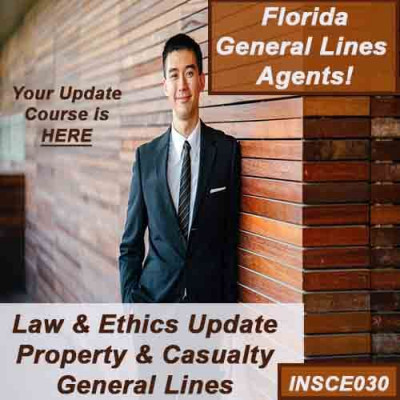Florida - 5hr LAW & ETHICS UPDATE - PROPERTY AND CASUALTY (5-220) (INSCE030FL8b)